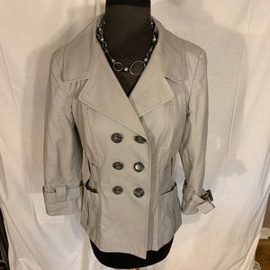 Banana Republic gray mini trench jacket. 6